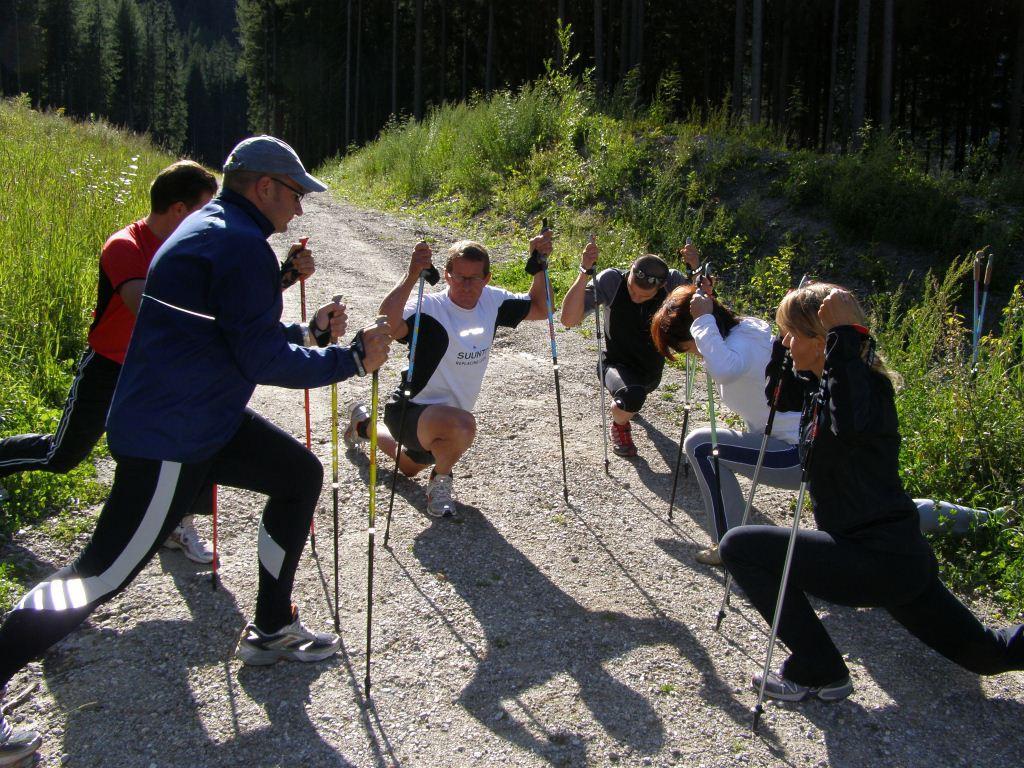Nordic Walking Dehnungsübungen