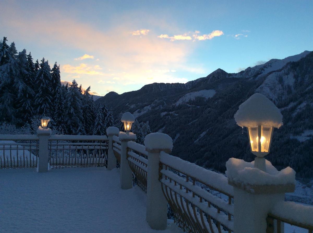 winterlicher Sonnenaufgang …