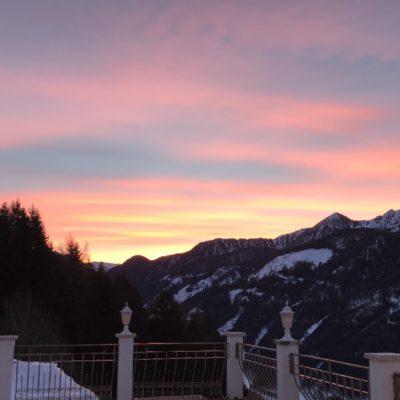 Landpalais Ausblick Wintermorgen